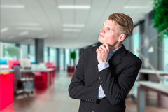 Business man thinking Royalty Free Stock Image