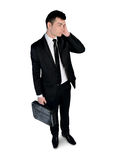 Business man thinking soltuion Royalty Free Stock Photo