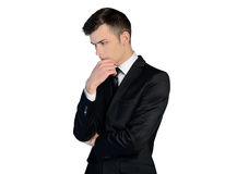 Business man thinking solution Royalty Free Stock Image