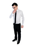 Business man thinking solution Stock Image