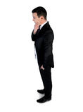 Business man  thinking solution Royalty Free Stock Photos