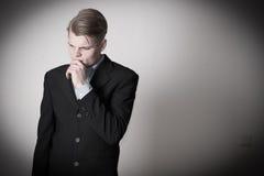 Business man thinking Royalty Free Stock Photos
