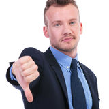 Business man thumb down Royalty Free Stock Photos