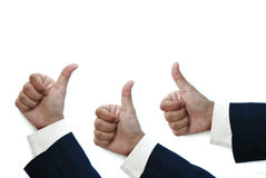 Business man thumb up Stock Image