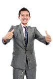 Business man thumb up Royalty Free Stock Images