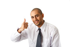Business man, thumb up Royalty Free Stock Images