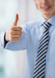Business man with thumb up Stock Photo