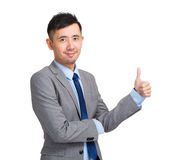 Business man with thumb up Royalty Free Stock Images
