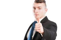 Business man thumb up Stock Image