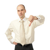Business man with thumbs down Royalty Free Stock Images