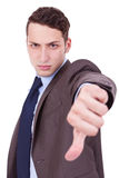 Business man with thumbs down Stock Photo