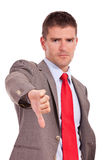 Business man thumbs down Stock Photography