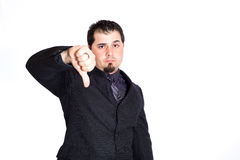 Business man thumbs down Royalty Free Stock Photo