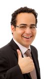 Business man with thumbs-up Stock Photos