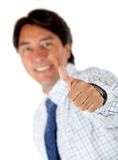 Business man with thumbs-up Stock Images