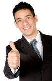 Business man - thumbs up Stock Images
