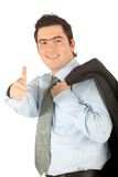 Business man with thumbs up Stock Images