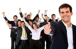 Business man - thumbs up Stock Photos