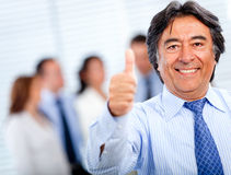 Business man with thumbs-up Royalty Free Stock Image