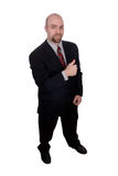 Business man with thumbs up. Isolated over a white background royalty free stock photography