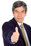 Business man - thumbs up Stock Image