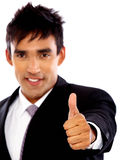 Business man - thumbs up Royalty Free Stock Photography