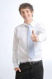 Business Man Thumbs Up Stock Photo