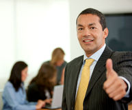Business man thumbs up Stock Photos
