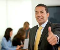 Business man thumbs up Stock Photos
