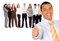 Business man with thumbs up Stock Photo