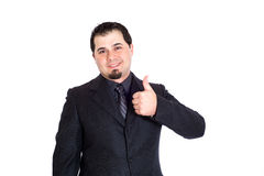 Business man thumbs up Royalty Free Stock Photography