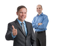 Business man with thumbs up gesture Stock Photos