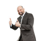 Business man thumbs up Royalty Free Stock Photo