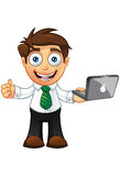 Business Man - Thumbs Up With Laptop Stock Images