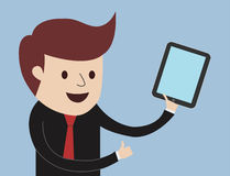 Business Man - Thumbs Up With Tablet Stock Photography