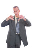 Business man thums down isolated Royalty Free Stock Photos