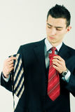 Business man with ties Stock Images