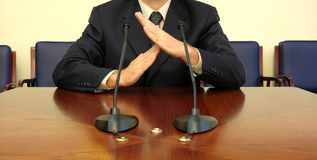 Business man time out. Business man doing the time out sign with his hands Royalty Free Stock Photography