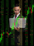 Business man in tock investment concept Stock Photo