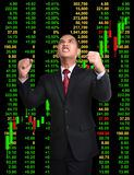 Business man in tock investment concept Stock Images