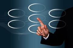 Business man touch centralize concept Stock Photo