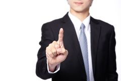 Business Man touch screen Stock Photos