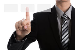 Business man touching Royalty Free Stock Images