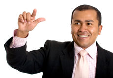 Business man touching screen Royalty Free Stock Images