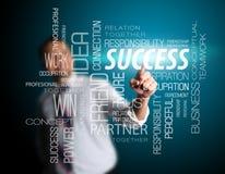 Business Man Touching Success Nametag Royalty Free Stock Photo