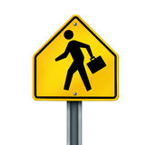 Business man traffic sign Royalty Free Stock Image