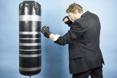 Business man are training to box Stock Photography