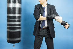 Business man are training to box Stock Images
