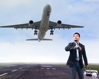 Business man traveling in airport Royalty Free Stock Photography