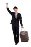 Business man and trip. Stock Image